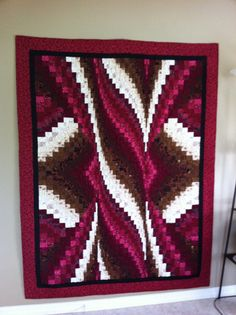 "My sisters ""Bargello Spiral Twist"" Amish Quilt Patterns, Bargello Quilt Patterns, Bargello Quilts, Longarm Quilting, Quilting Projects, Quilting Designs, Crafty Projects, Colorful Quilts, Penny Rugs"