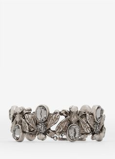 Alexander McQueen ~ Crystal Embedded Bee Toggle Bangle