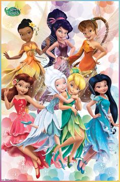 Tinkerbell & her fairy friends