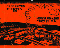 Gustave Baumann holiday card, New Mexico Magazine