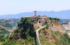 Travel to Italy and explore the 'dying' village of Civita di Bagnoregio in Umbria before it disappears