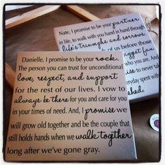 Your Wedding Vows on canvas  custom Typography by redbarncanvas, $110.00