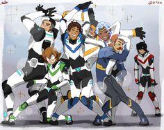 """When I say """"Vol"""", you'll saaaayyyyy….Ok Paladins now let's get in formation! And don't be a kill joy Keith join them D:< Pose reference is this one XD"""