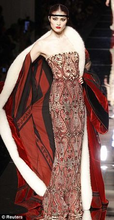 Theatrical and flamboyant: A model in one of Gaultier's elaborate creations