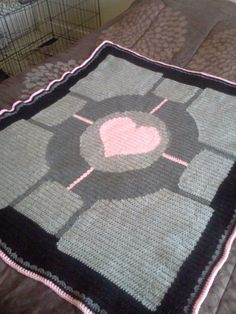 How to Crochet a Portal Companion Cube Throw Blanket #video_game