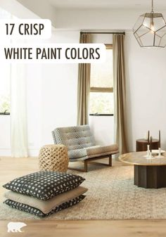 Try a modern color scheme for your living space by incorporating white and cream into your decor and wall color. Plus, these 17 fresh white paint colors are sure to help spark some design inspiration in you!
