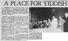 Celebrating the opening of the Sholem Aleichem College, article in Australian Jewish News 16 May 1975