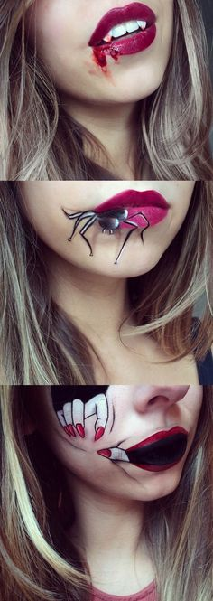 Lip Artist Laura Jenkinson hooked up with Christian Louboutin to create these moody lip art looks to inspire our Halloween scene. Its instant inspiration for Fright Night – and should you want more try the many Halloween makeup tutorials below. No tricks – just treats (promise).
