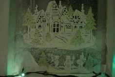 Фото 8: Вытынанки новогодние шаблоны на окна