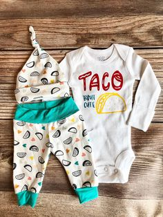 Toddler Baby Boys Bodysuit Short-Sleeve Onesie Taco Dirty to Me Print Outfit Autumn Pajamas