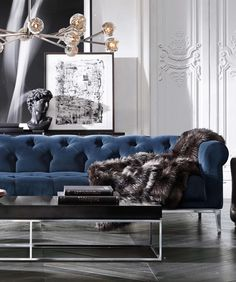 modern blue sofa, luxury sofa.For more sofas ideas visit: See also at: http://www.covetlounge.net/product-category/seating/sofas/