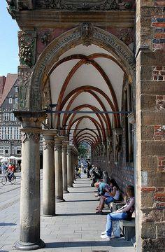 Rathaus Arcade, Bremen, Germany