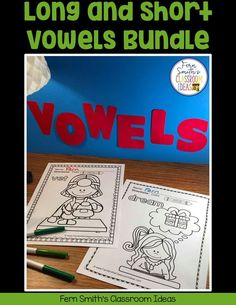 Your Students will ADORE this 120 Page Coloring Book for Long and Short Vowels! Add it to your plans to compliment any Short Vowel and Long Vowel Unit! 120 Coloring Pages For Some Short Vowel and First Grade Classroom, First Grade Math, Fall Coloring Pages, Coloring Books, Long U Words, Writing Lessons, Math Lessons, Classroom Management Tips, Nonsense Words