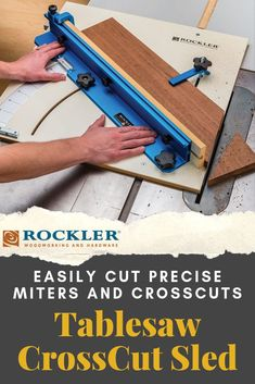 Rockler Tablesaw CrossCut Sled - Cut precise miters and crosscuts while enjoying a spacious smooth-sliding table and large-easy-to-read scale. Rockler Woodworking, Woodworking Hand Tools, Woodworking Supplies, Woodworking Crafts, Woodworking Projects, Canadian Woodworking, Woodworking Equipment, Lathe Projects, Woodworking Magazine