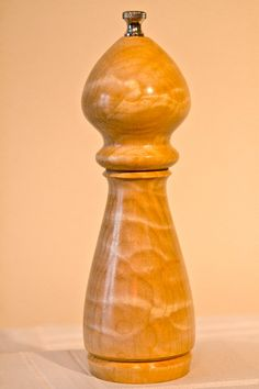 Wood Pepper Mill Grinder  8  Maple by NewLeavesTurning on Etsy, $129.00