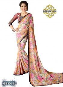 Marvelous Multi coloured Saree