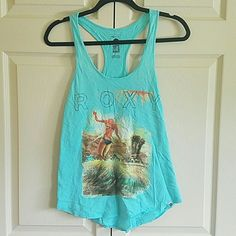 Roxy summer tank Cute and comfy, worn maybe one time, if that. Wrinkly from being in storage. Roxy Tops Tank Tops