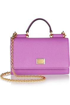Fuchsia textured-leather (Calf) Magnetic snap-fastening front flap Designer color: Petunia