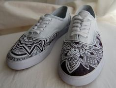 Custom Design HennaInspired Shoes by stealthfox on Etsy