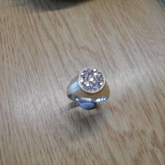 Sterling Silver Cubic Zirconia Ring.  Free Sizing.