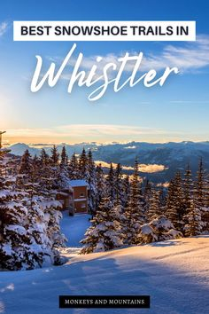 Are you looking for beautiful places to snowshoe in British Columbia? Then head to one of the top winter destinations in Canada - Whistler, BC! Click here to discover the best snowshoe trails in… More Canada Destinations, Amazing Destinations, Vacation Trips, Dream Vacations, Montreal, Canada Vancouver, Canada National Parks, Canadian Travel, Visit Canada