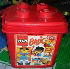 LEGO 1636 Small Bucket of Bricks Image 1