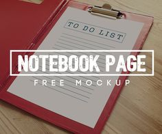 Free Notebook Page Mockup http://graphicpocket.com/notebook-page-mockup/