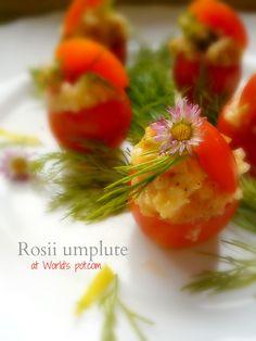 Rosii umplute (stuffed tomatoes with rice)-Oltenia area