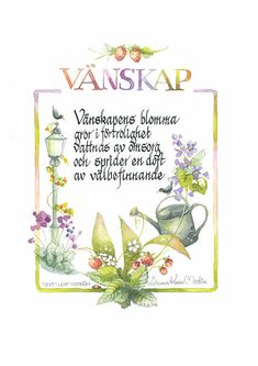 <b>Vänskap</b><br />Text: Leif Tiström Quick Quotes, Self Love Quotes, Words Quotes, Spiritual Words, Crafts For Kids, Presents, Love You, Wisdom, Valentines