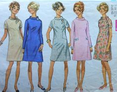Vintage Dress Pattern Plus Size/Half Size