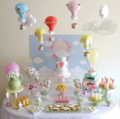 Little Wish Parties | Hot Air Balloon First Birthday | https://littlewishparties.com