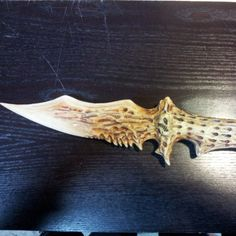 Casting of my worm tooth Crysknife #legionxiiiprops #crysknife #Dune #fremen #arakis #sculpture #smoothcast #smooth-on by legionxiiiprops