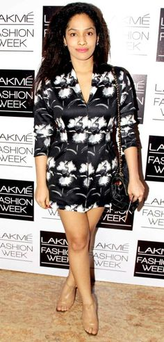 Masaba Gupta on the 2nd day of the Lakme Fashion Week 2013. #Style #Fashion #LFW