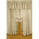 Found it at Wayfair - Commonwealth Home Fashions Hathaway Exquisite Scroll Motif Window Treatment Collection