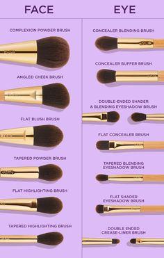 Eye Makeup Steps, Eye Makeup Art, Eyebrow Makeup, Skin Makeup, Eyeshadow Makeup, Makeup Brush Uses, Eye Makeup Brushes, Makeup Brush Hacks, Beginners Eye Makeup