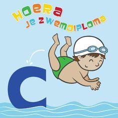 Leuke kaart om te versturen na het behalen van zwemdiploma C
