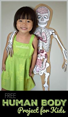 FREE Human Body Project this outrageously FUN human body preschool project using free printables allows kids to learn about what Science Projects For Kids, Preschool Projects, Science Activities For Kids, Listening Activities, Science Lessons, Kindergarten Activities, Life Science, Art Projects, Human Body Crafts