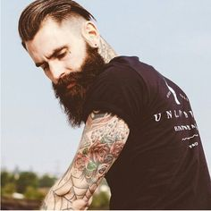 Most popular tags for this image include: tattoo, ricki hall, cobweb, glam Cool Haircuts, Haircuts For Men, Men's Haircuts, Modern Hairstyles, Cool Hairstyles, Hairstyle Ideas, Ricki Hall, Hair And Beard Styles, Hair Styles