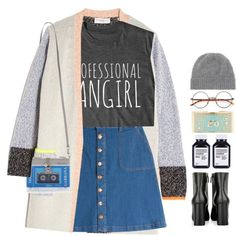 *1687 by cutekawaiiandgoodlooking on Polyvore featuring OTTE, HUGO, Prada, Dolce&Gabbana, Alison Lou, Jardin des Orangers, beanies, MiniBag and schooloutfit