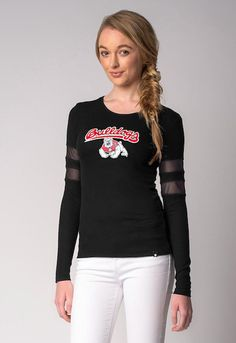 Fresno State Bulldogs NCAA Sporty-Chic Long-Sleeve Top (Small)