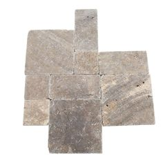 Daltile Travertine Andes Gray Paredon Pattern Floor and Wall Tile Kit (6 sq. ft / case)