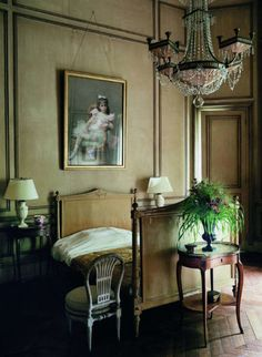 Chateau de Groussay, Italianate House near Chantilly, France is featured in World of Interiors -Habitually Chic®