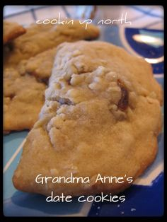 Brent's Grandma Anne was awesome! She was so full of life, always smiling, kind, helpful, and so ACTIVE! She was always on the mov. Candy Cookies, No Bake Cookies, Cookie Desserts, Yummy Cookies, Cookie Recipes, Dessert Recipes, Eid Recipes, Date Recipes, Dessert Bread