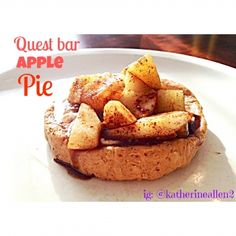Ripped Recipes - Quest Bar Apple Pie - This might just be the quickest and easiest apple pie ever! With a cinnamon roll quest bar  crust, this apple pie for one is completely delicious, and completely guilt-free.