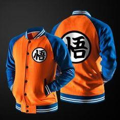 BLOUSON Dragon Ball Veste de Baseball Homme Automne Hiv...