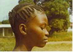 Traditional braided hair. Film scan from '78.