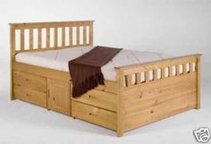 King size captains bed, with 8 drawers and 2 storage cupboards