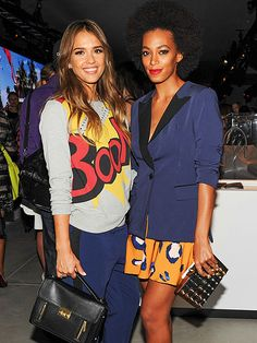 at the 3.1 Phillip Lim for Target Launch Event & Stylescape Unveiling (sept 2013) #JessicaAlba #SolangeKnowles