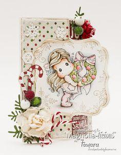 Handmade by Tamara: Push, pull, flip card / Magnolia-licious