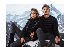 Massimo Dutti | Après Ski Collection - AW 15/16. Campaign featuring Andreea Diaconu & Mikkel G. Jensen